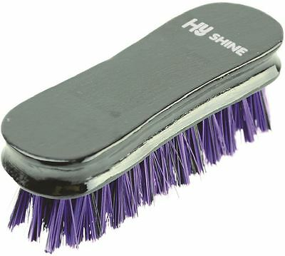 HySHINE Wooden Horse Pony Grooming Face Brush- Black/ Purple 4505