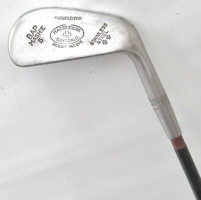 Vintage MacGregor BAP Mashie Neutralizer Dot Punch Face 5 Iron Sheathed Steel