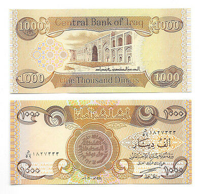 New Iraqi Dinar 1000 NOTE UNCIRCULATED MINT                *FREE SHIPPING*