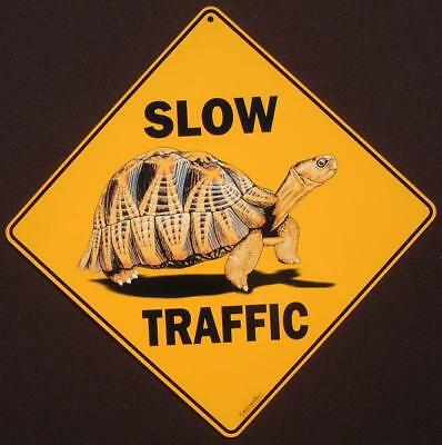TURTLE CROSSING Sign aluminum print decor novelty reptile home signs tortoise