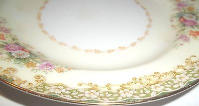 Beautiful Occupied Japan Hand Painted Floral Rose Porcelain Small Plate Saucer
