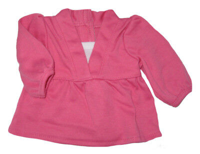 Hot Pink Long Sleeve Knit Top Fits 18 inch American Girl Doll