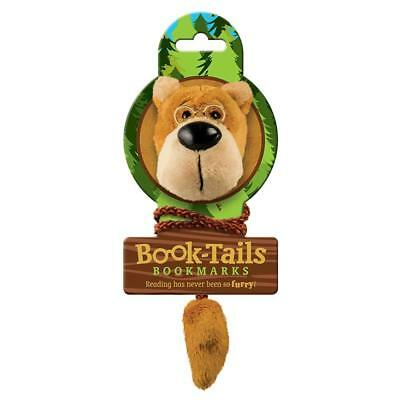 NEW Book-Tails Plush Bear w/Glasses Bookmark