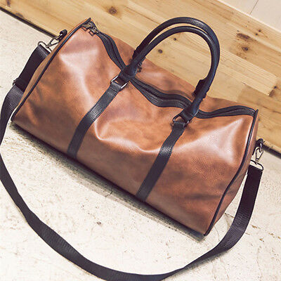 Leather Outdoor Large Gym Duffel Bag Travel Weekend Overnight Luggage Carry Bags