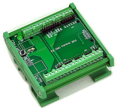 DIN Rail Mount Screw Terminal Block Adapter Module, For Arduino UNO R3.