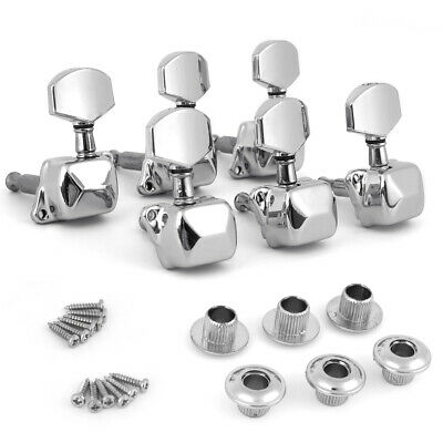Acoustic Guitar String Semiclosed Tuning Pegs Tuners Machine Heads 3Rx3L Chrome