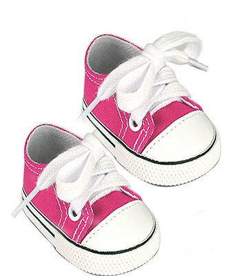 Hot Pink Canvas Sneakers Fits 18 inch American Girl Dolls