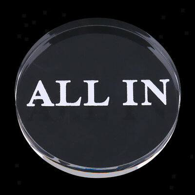 Finest Professional Clear All In Button Party Gamble Accessory 5.7 x 1cm