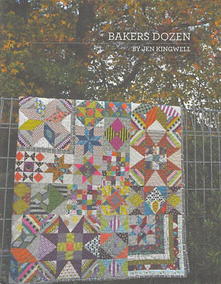 Quilt Pattern Booklet ~ BAKERS DOZEN ~ by Jen Kingwell