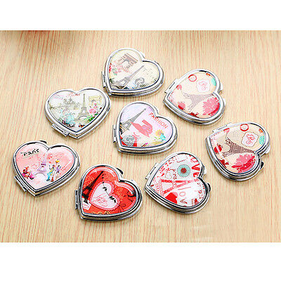 70mm Double Side Lady Girl Makeup Mirrors Hand Pocket Travel Cosmetic Mirror