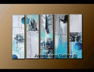 CHOP72 5pcs wall art modern abstract 100% hand-painted oil painting art canvas