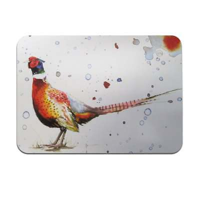 Sarah Stokes Pheasant Placemats Set Of 4 - New - A27632