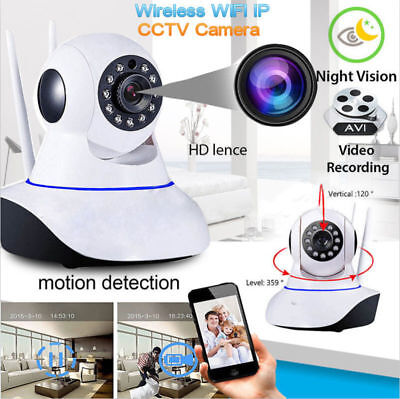 New 720P HD Wireless Wifi IP Camera Webcam Baby/Pet Monitor CAM Pan Tilt UK