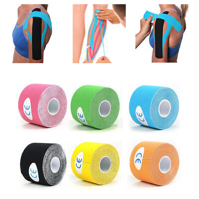 6 Farbe Elastisches Kinesiologie Tape Kinesiology Sport Physiotape Tapes 5cm*5m