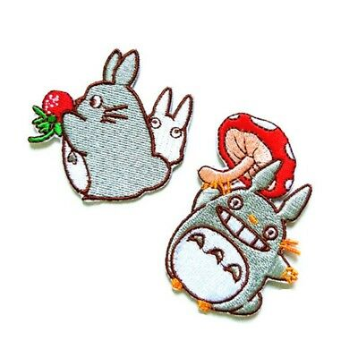 2Pcs Anime My Neighbour Totoro Sewing on Patch Embroidered Applique Badge Cloth