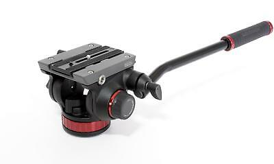 Manfrotto MVH502AH Pro Fluid Video Neiger flache Basis 504PL rot schwarz 476612
