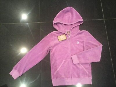 NWT Juicy Couture New & Genuine Girls Age 8 Lilac Cotton Hoody With Scotty Logo