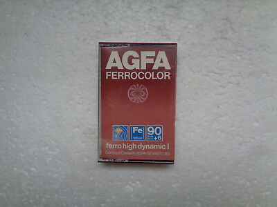 Vintage Audio Cassette AGFA Ferrocolor 90+6 From 1979 - Fantastic Condition !!
