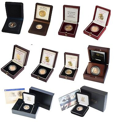 Royal Mint UK GOLD PROOF SOVEREIGN 1979 to 2017 - Choose your year