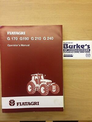 GENUINE FIAT TRACTOR G Series OPERATORS MANUAL G 170 G1 90 G 210 G 240