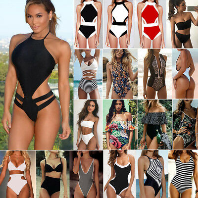 Womens One-Piece Bandage Bikini Push Up Monokini Swimsuit Bathing Suit Swimwear