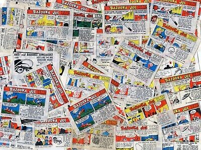 Lot of 50 Vintage 1960's 1970's Bazooka Joe and his Gang Bubble Gum Comics