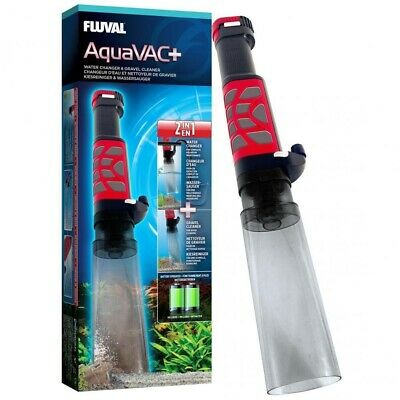 FLUVAL AquaVAC+ AQUARIUM GRAVEL CLEANER WATER TANK VAC FILTER SIPHON VACUUM