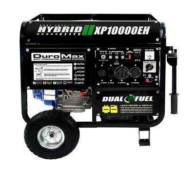 DuroMax 10000 Watt Hybrid Dual Fuel Emergency Portable Propane Gas Generator RV