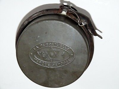 Antique French army preserve jar as used in the trenches in World War 1. Rare