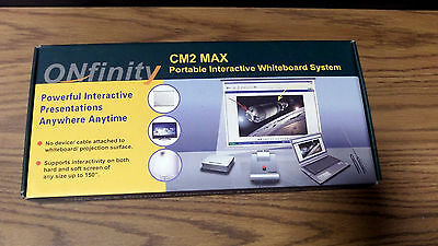Onfinity CM2 Max Portable Interactive Whiteboard System~USED~