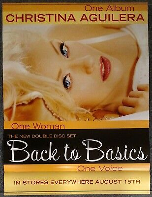 Christina Aguilera Back to Basics 2006 PROMO POSTER