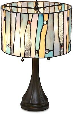 Tiffany Style Stained Glass Table Lamp Desk Modern Mission Contemporary Colorful