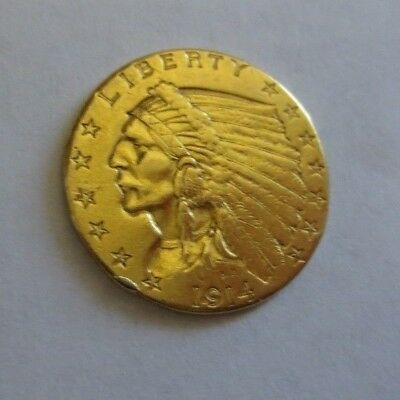 1914 $2.50 Indian Gold Quarter Eagle (EX JEWELRY)