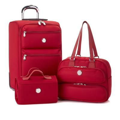 JOY First Class TuffTech Luggage Collection with SpinBall Wheels-RED-NWT