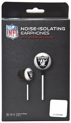 NFL Oakland Raiders IHIP Black Box Ear Buds All Teams Official Licensed 285a42bfa