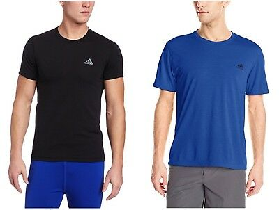 ADIDAS Men's CLIMALITE Ultimate Short-Sleeve T-Shirt - BLACK/BLUE - VARIATION