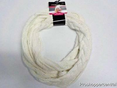 Cuddl Duds Girls Infinity Scarf with Plushfill Softness - Marshmallow White