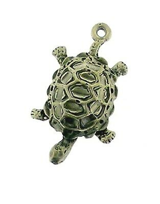 Desert Tortoise  Charm/ Pendant in Sterling     3/D Detailed Design