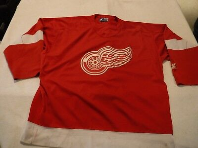 Detroit Red Wing Hockey Jersey Vintage Starter 90s Authentic Size XL