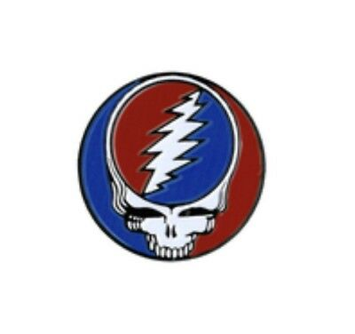 Grateful Dead Skull Steal Your Face Enamel Pin G002PC Phish Jerry Garcia