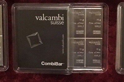 Lot of 3: Valcambi Suisse CombiBar 10x10 100 gram 999 Fine Silver Sealed w/Assay
