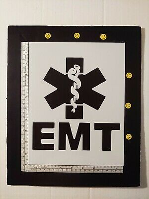 "Star of Life EMT Emergency Medical 8.5"" x 11"" Custom Stencil FAST FREE SHIPPING"
