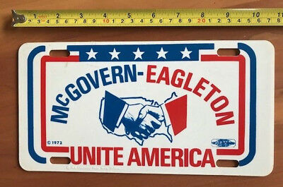 1972 Presidential Campaign license plate for George McGovern & Eagleton