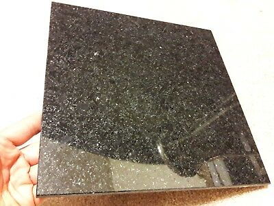Lot of 30 solid 12x12 inch polished black flamed granite tiles, Canada