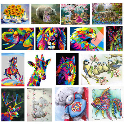 DIY 5D Diamond Embroidery Animal Painting Cross Stitch Craft Home Wall Decor Kit