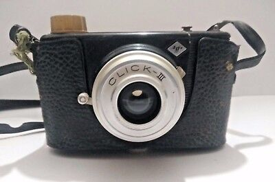 Rare Vintage India Made AGFA Click III 120 mm Point and Shoot Camera With Case