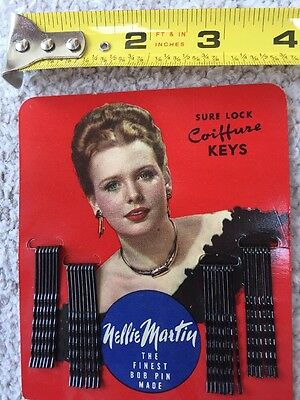 General Store Advertising NOS BOB PINS NELLIE MARTIN WITH PRODUCT 1950s graphics