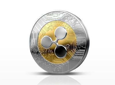 Ripple coin Gold Plated Physical coin XRP Coin Collectible Coin in Case Gift
