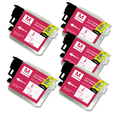 5 MAGENTA Ink Cartridge for Brother LC61M MFC 290C 295CN 490CW 495CW J265w 270w