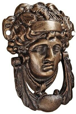 Athena 7-in Entry Door Knocker Hand finished antique style solid cast iron